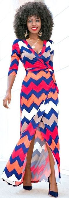 #summer #adorable #outfits | Printed Wrap Maxi Dress
