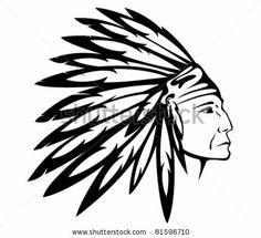 Red Indian chief wearing traditional headdress - vector illustration by Cattallina, via ShutterStock