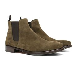 ORO's exclusive Olive Suede Chelsea Boots, are perfect for those who want a stylish, trendy, and versatile look. 100% Calfskin (High-Quality Suede) Blake Stitc