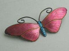 My current favorite: Stunning Sterling Silver and Enamel Butterfly Brooch John Atkins and Son. Still available for 3 days. UPDATE 4/13/14: This one sold for $601.97! I have excellent taste.