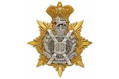 Badge. Scottish. King's Own Scottish Borderers Victorian Officer's helmet plate circa 1884-1901.