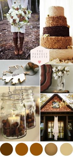 Autumn Acorn Wedding with Rustic Details