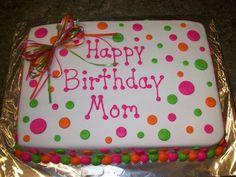 1/4 sheet cake polka dots | Polka dot sheet cake | Cakes