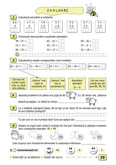 Clasa I. Curriculum, Homeschool, 1st Grade Math Worksheets, Math For Kids, School Lessons, Kids Education, Grade 1, Mathematics, Parenting
