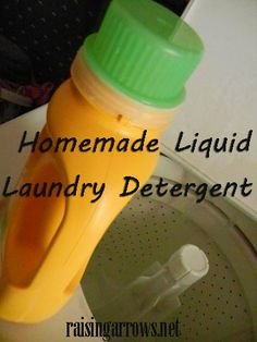Homemade Liquid Laundry Detergent recipe with cost analysis