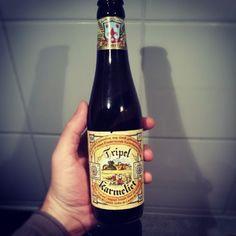 Ce soir, pour l'apéro, une valeur sûre ! Une Tripel Karmeliet ! #bière #StrongBeer #MadeInBelgium