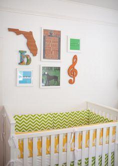 I like this idea for any wall, but especially a nursery
