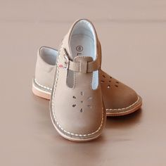 L'Amour Girls Special Occasion T-Strap Leather Cut Out Mary .- L'Amour Girls Special Occasion T-Strap Leather Cut Out Mary Janes Girls Nubuck Khaki Mary Janes – Perfect for School in the softest khaki - Little Girl Shoes, Cute Baby Shoes, Toddler Girl Shoes, Baby Girl Shoes, Toddler Outfits, Baby Boots, Toddler Girls, Baby Girls, Girl Outfits
