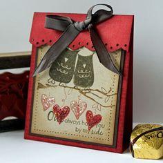 Owl Treat Bag; would make a cute card too