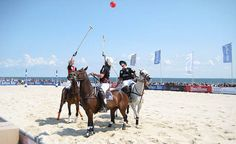 Beach Polo World Cup in Sylt, an island in northern Germany and well known for the distinctive shape of its shoreline. Polo Grounds, Strand, World Cup, Fields, Germany, Around The Worlds, Horses, Shape, Beach
