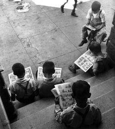 John Gutmann - Kids Reading Comics, San Francisco, 1938