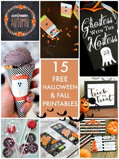 15 Free Halloween & Fall Printables! So many cute ideas for fall and halloween celebrations!