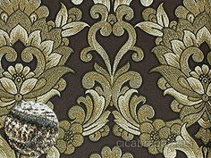 Ciça Braga Papel de parede - Papel de Parede Vinílico Fili Dóro (Italiano) - Colonial (Marrom/ Bege/ Dourado/ Detalhes com Brilho Glitter) - COLA GRÁTIS
