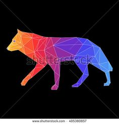 stock-vector-abstract-polygonal-wolf-geometric-triangle-low-poly-wolf-painted-in-imaginary-rainbow-colors-for-405380857.jpg (450×470)