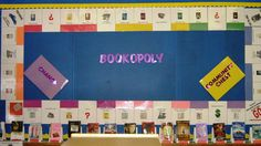 Bookopoly. Print pictures of popular titles. attach to colored paper. Add Chance, etc. Library Displays
