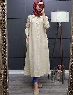 Stylish Dress Designs, Stylish Dresses For Girls, Casual Dresses, Mode Abaya, Mode Hijab, Muslim Women Fashion, Islamic Fashion, Modest Fashion Hijab, Fashion Dresses