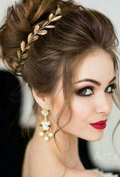 wedding hairstyles half up half down; wedding hairstyles for long hair; Wedding Hair And Makeup, Bridal Makeup, Hair Makeup, Bridal Updo, Wedding Updo, Bridal Hair Buns, Makeup Shop, Wedding Dress, Hair Accessories For Women
