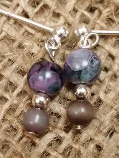 Purple Flower Earrings by WesternCowgirlDesign on Etsy