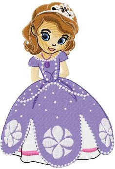 Sofia the First embroidery design 8. Machine embroidery design. www.embroideres.com