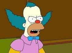 Krusty the Clown (The Simpsons) Lisa Simpson, Homer Simpson, Bart E Lisa, Famous Clowns, Krusty The Clown, Famous Cartoons, Favorite Cartoon Character, Black Girl Aesthetic, Illusion Art