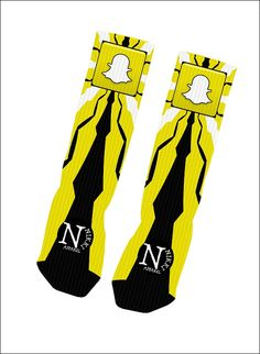 Custom Snapchat Socks Custom Nike Elite Socks by NikkisNameGifts, $18.00