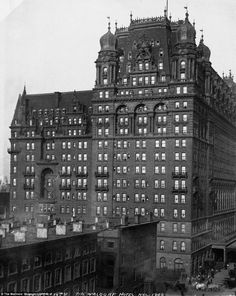 The Waldorf-Astoria Hotel at its old location Fifth Avenue and West 34th Street, 1908