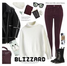 """""""blizzard ready"""" by jesuisunlapin ❤ liked on Polyvore featuring HUF, Topshop, H&M, Linea, Chicwish, Calvin Klein Collection, Acne Studios, Mulberry and Wedgwood"""