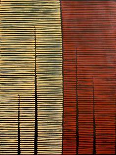 Aboriginal Artwork by Adam Reid. Sold through Coolabah Art on eBay. Cataogue ID 12627