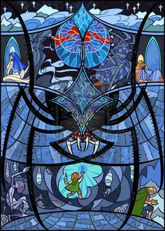 """Shelob The Great Spider   17 Passages From """"Lord Of The Rings"""" Beautifully Recreated In Stained Glass"""
