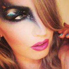 Sandra Holmbom's eye makeup art is museum ready