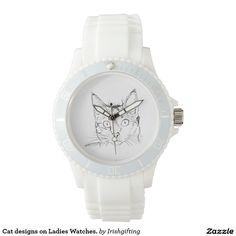 Cat designs on Ladies Watches. Wristwatch