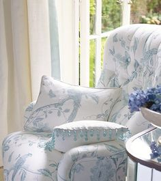 Beautiful chair for the bedroom. Summer Palace Collection - Laura Ashley