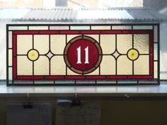 Image result for stained glass door with number