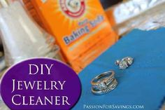 How to Make Your Own Jewelry Cleaner.  I just tried this with my yellow gold, white gold, and sterling silver rings. Now they shine like the day I got them! I'll never buy jewelry cleaner full of chemicals ever again  :-)