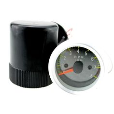 "12V Petrol Vehicles 2"" 52mm Yellow LED Tacho Gauge Car Motorcycle Tachometer Carbon Fiber Face Meter 0 - 8000 RPM"