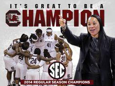 Lady Gamecocks basketball SEC champs!!