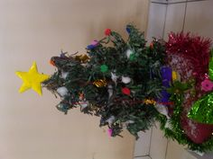 another Christmas tree creative using newspaper