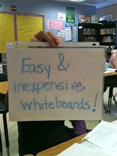 so clever! Keep in SS/Sci binder for quick use and save time passing out the mini boards.