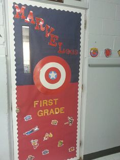 Classroom door! Check out my teacher page too! We have some MARVELous projects in the works!