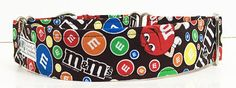 M&M Adjustable Martingale Dog Collar. Made to by JinsK9Kreations