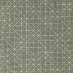 Baumwolle, Grün/Sand mit graphischem Mus