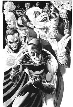 Batman Hush Theme, in the December 2011: Great Detectives Comic Art Sketchbook