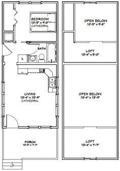Tiny House -- 646 sq ft -- PDF house plans garage plans & shed plans. Shed To Tiny House, Tiny House Cabin, Tiny House Living, Small House Plans, Garage Plans, Shed Plans, Shed Blueprints, Cabin Floor Plans, Narrow House