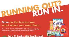 Publix Mail in Rebate: Get A $5 Publix Gift Card