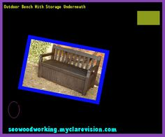 Outdoor Bench With Storage Underneath 083454 - Woodworking Plans and Projects!