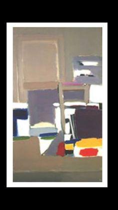 Nicolas De Staël - Atelier à Antibes, 1955 - Huile sur toile - 195 x 114 cm - Coll. Particulière