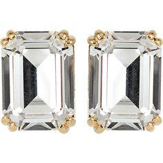 HOUSE OF LAVANDE Swarovski Crystal Stud Earrings ($250) ❤ liked on Polyvore featuring jewelry, earrings, accessories, harbour, clip earrings, clip on stud earrings, swarovski crystals jewelry, clip back earrings and swarovski crystals earrings