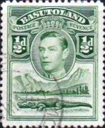 code qr | Basutoland 1938 SG 18 King George VI and Crocodile Fine Used Scott ...