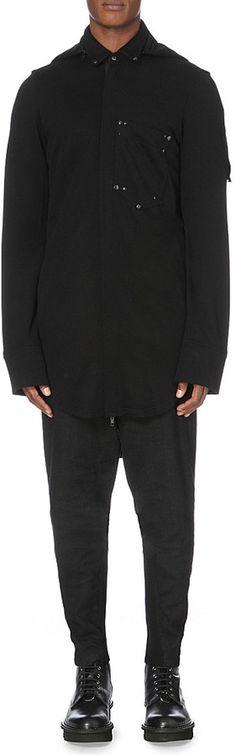 ANN DEMEULEMEESTER Longline jersey hoody