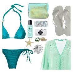 """beach hype"" by sanddollardubai ❤ liked on Polyvore featuring NARS Cosmetics, Melissa Odabash, ViX, 3.1 Phillip Lim and Havaianas"